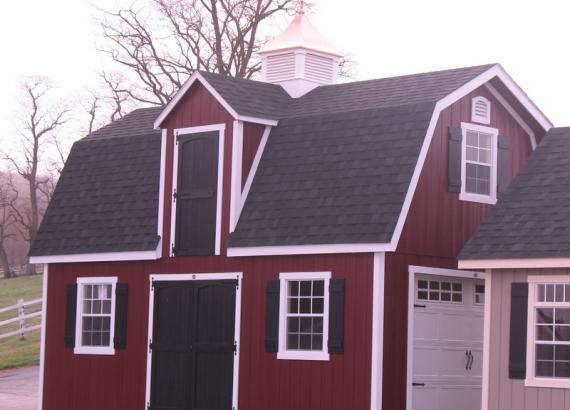 14 x 24 Liberty Dutch Barn Shed (Dura temp Siding)