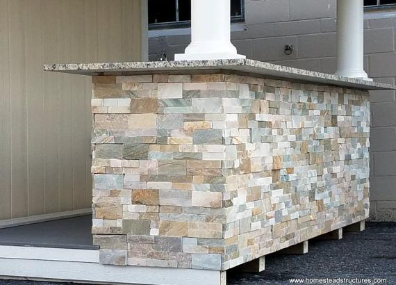 Natural Ledge Stone Bar Facade on Siesta