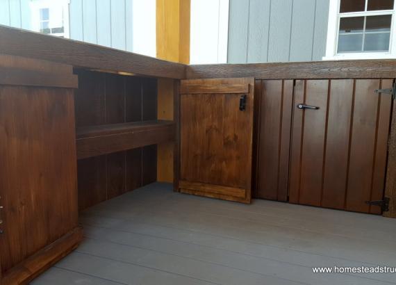 10' x 12' Timberframe Siesta Poolside Bar - inside cabinet details