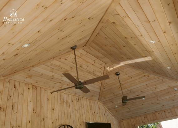 Tongue & Groove Pine ceiling option with whitewash stain