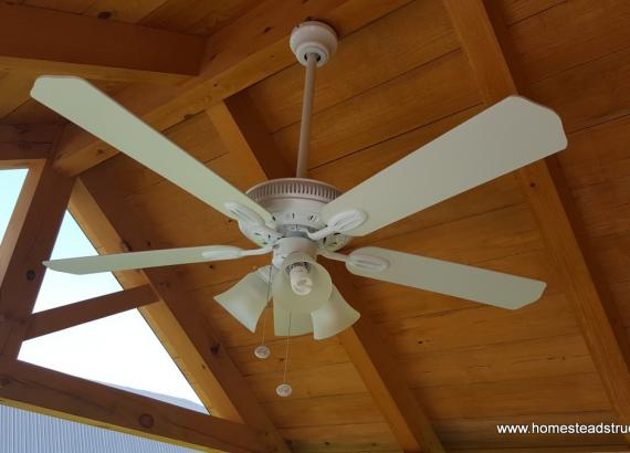 10' x 12' Timberframe Siesta with ceiling fan