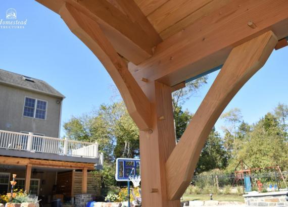 Timber Frame Pavilion Gable