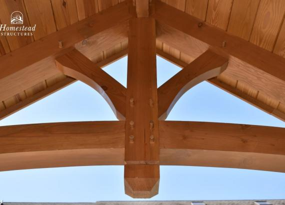 Timberframe Ceiling details with gable and mortise & tenon joinery