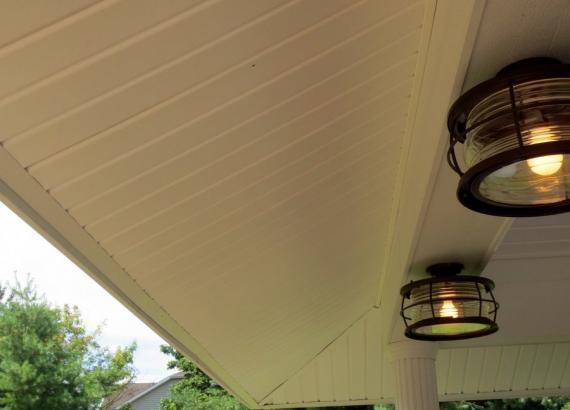20x20 Vintage Pavilion 2ft Vinyl Overhang