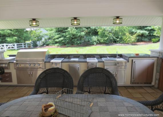 20' x20'  Vintage Pavilion outdoor kitchen