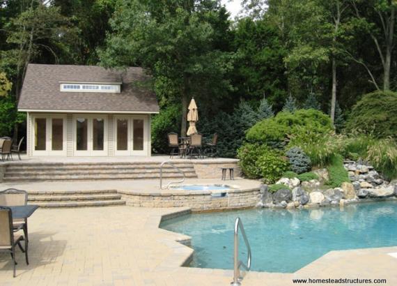 20' x 24' Heritage Pool House (vinyl siding)