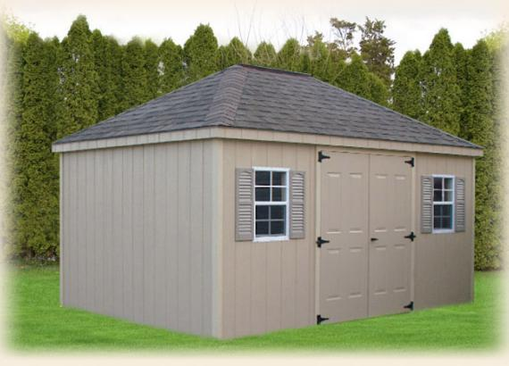 12' x 16' Keystone Hip Shed (D-temp Siding)