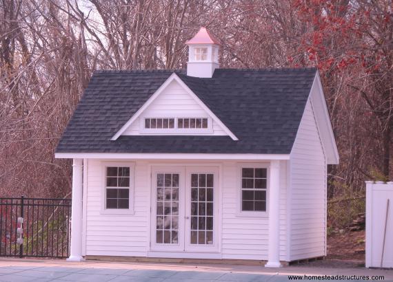 15 x 16 Heritage Pool House (vinyl siding)
