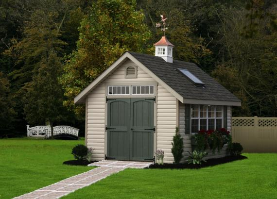 10' x 14' Classic A-Frame Potting Shed (Vinyl Siding)