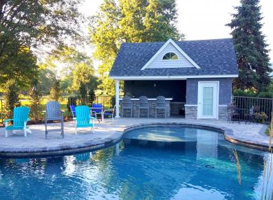 18' x 20' Heritage/Wellington Pool House with Integrity Pools