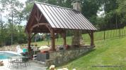 14' x 16' Timber Frame Pavilion with Eastern White Pine
