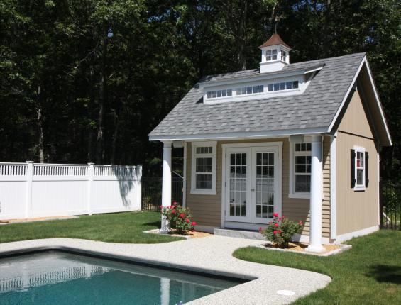 Prefab pool house modern style