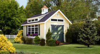 12' x 16' Century A-Frame Shed with dormer & cupola