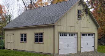 24' x 32' 2 story A-Frame Garage (D-temp siding)