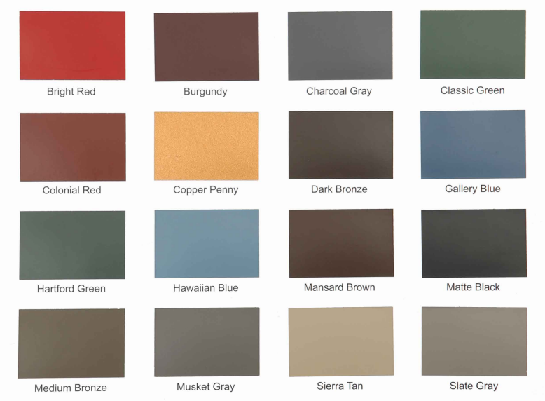 Metal roofing colors metal roofing in copper color free for Best roof color